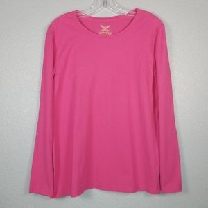 Faded Glory solid pink long sleeve shirt